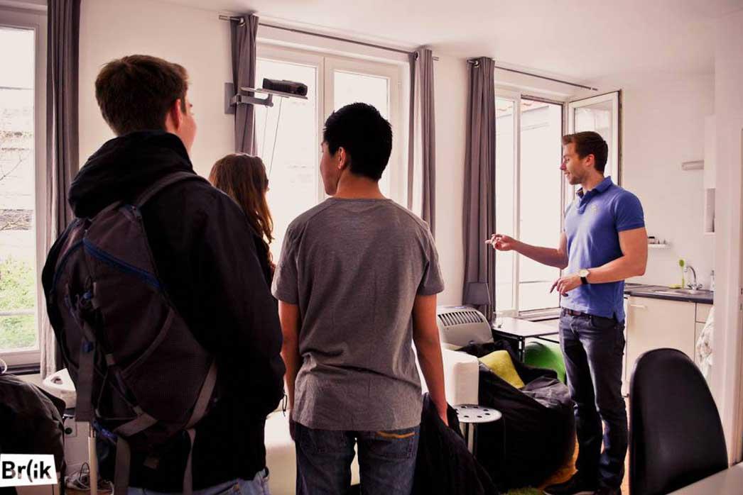Studenten komen een week lang Brussel testen